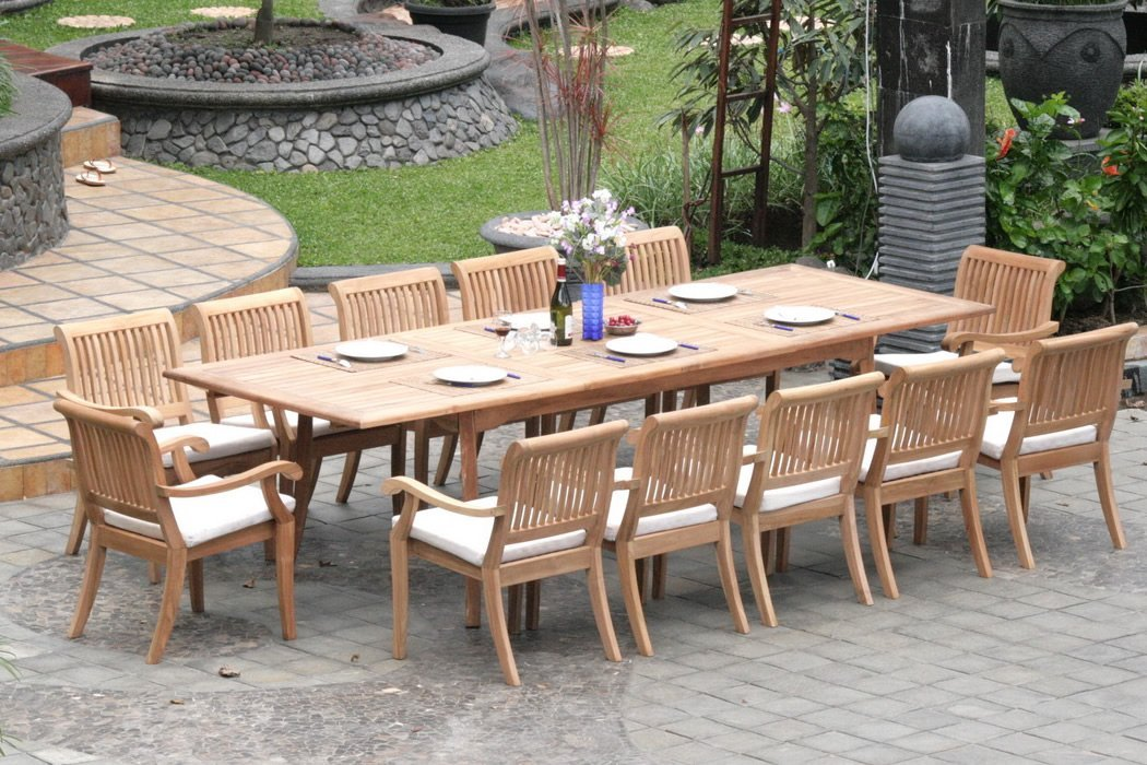 Extending Teak Patio Table Vs Fixedlength Dining Table Pros And - Teak patio table with leaf