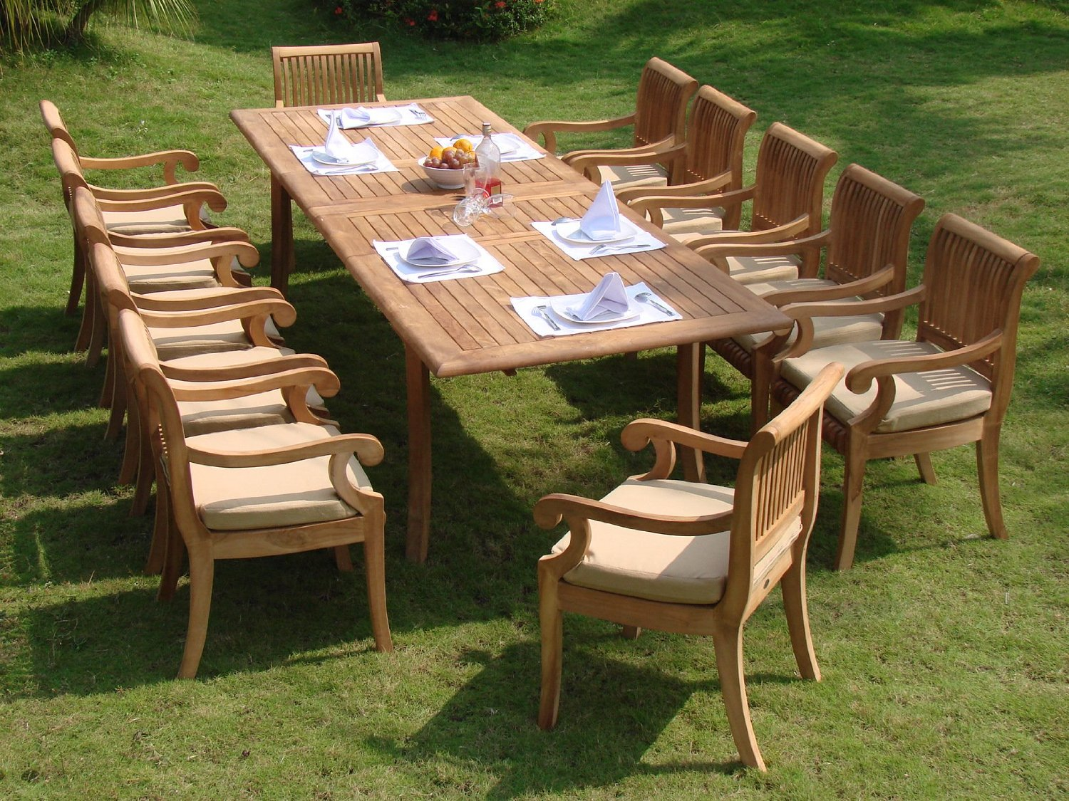 Compare And Choose Reviewing The Best Teak Outdoor Dining Sets - Teak patio table with leaf