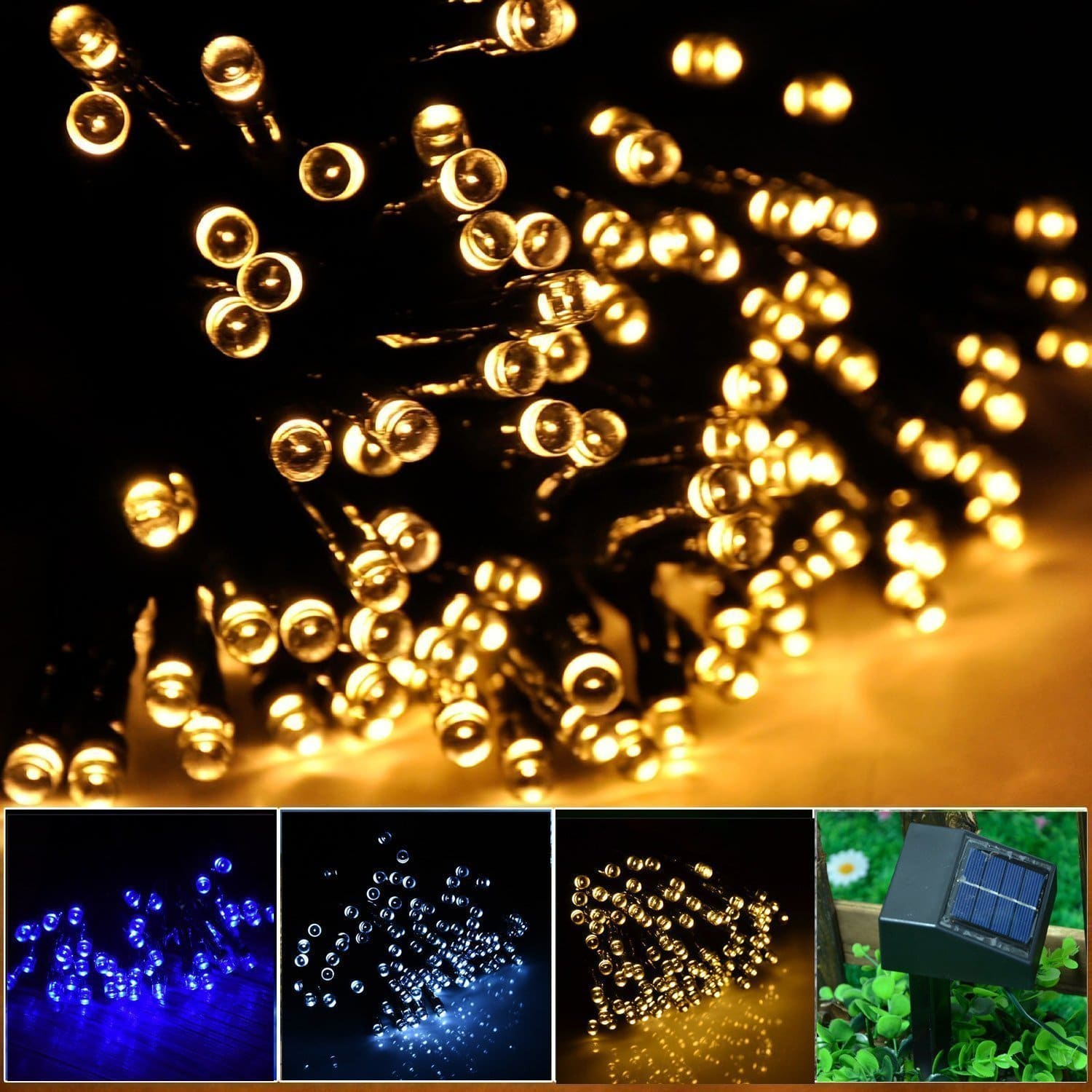 Outdoor christmas lights new and incredible innovations for the inst solar powered led string light ambiance lighting 545ft 17m 100 led solar aloadofball