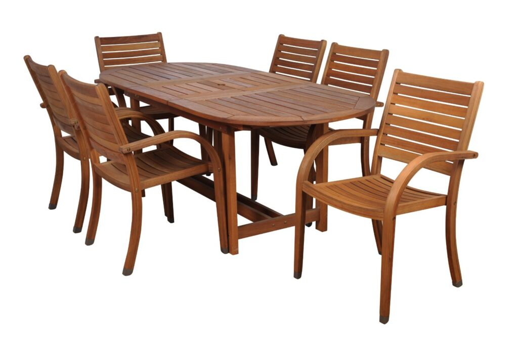 Amazonia Arizona 7-Piece Eucalyptus Oval Dining Set