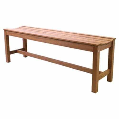 Outdoor Interiors 3-Person Backless Eucalyptus Bench