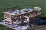 Pebble Lane Living 7-Piece Teak Wood Patio Dining Set