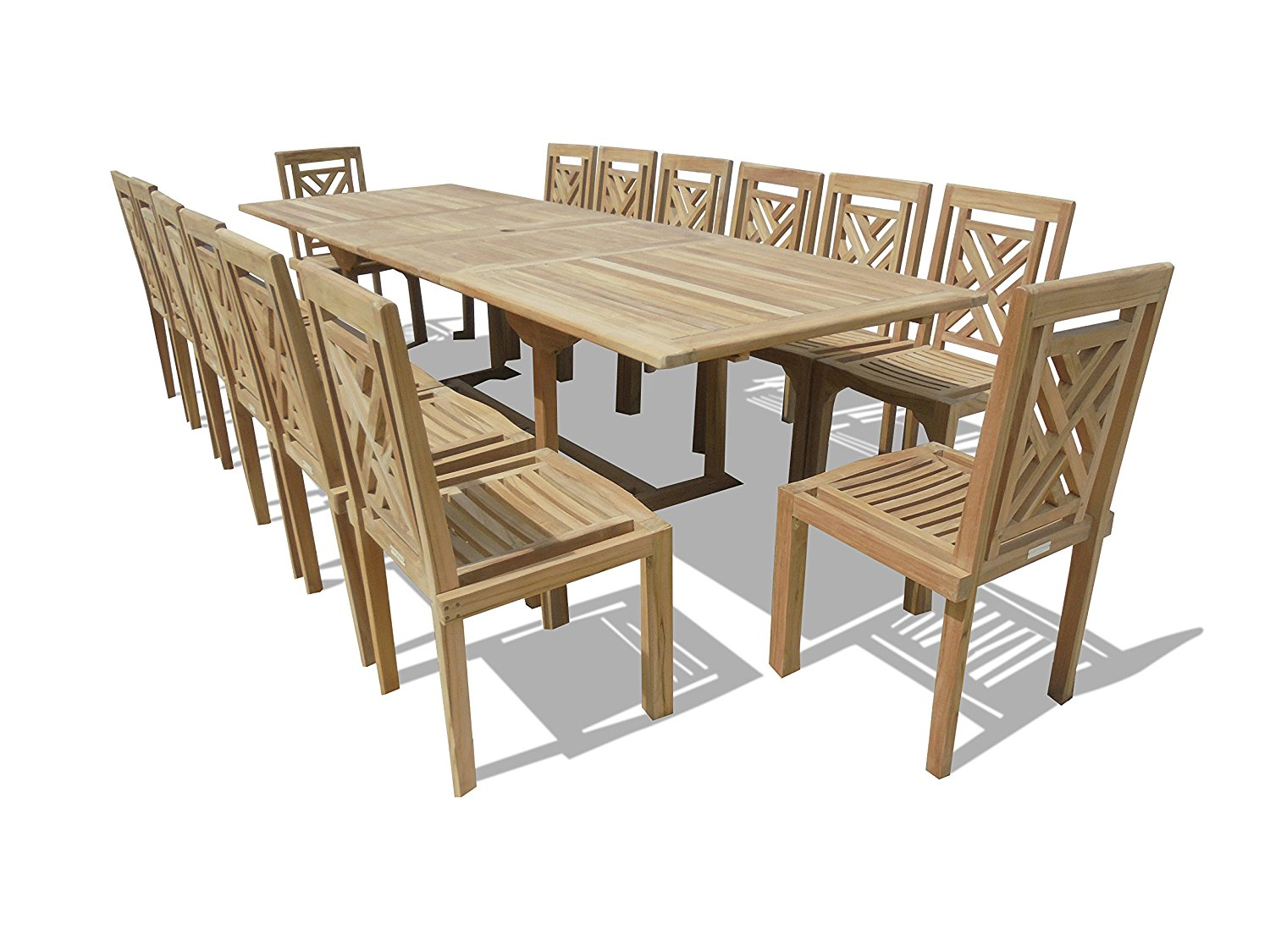 Windsor Grade A 15 Piece Teak Dining Set